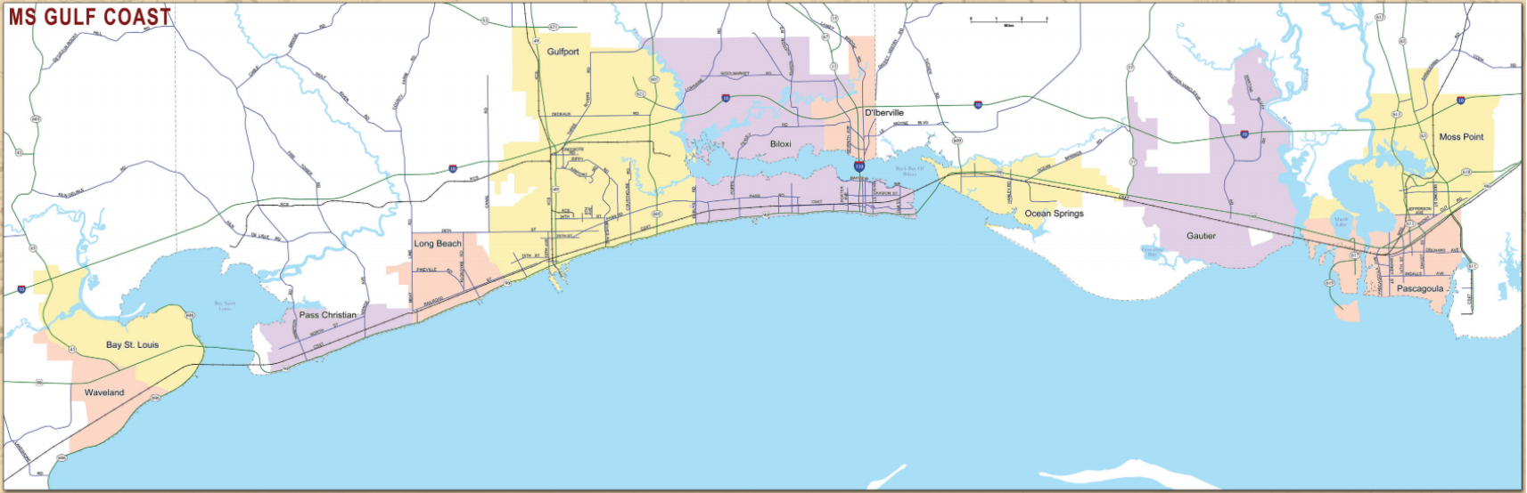 Rail Map MS Gulf Coast