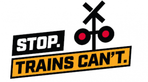 Stop.Trains Can't. Logo